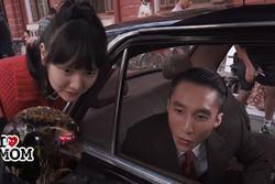 Xôn xao clip được cho là Hải Tú ngồi trong xe ô tô bị bao vây, ném đá