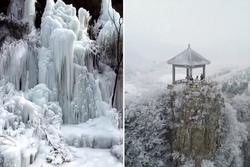 Khung cảnh băng tuyết sau trận bão lớn ở Trung Quốc