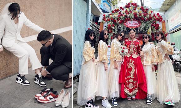 Những cô dâu diện giày sneakers, quần ngắn trong ngày cưới-2