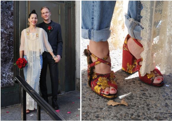 Những cô dâu diện giày sneakers, quần ngắn trong ngày cưới-8
