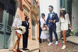 Những cô dâu diện giày sneakers, quần ngắn trong ngày cưới