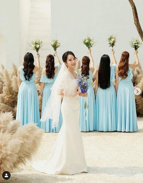 Primmy Trương nhá hàng ảnh cưới, dàn phù dâu toàn Hoa hậu, diễn viên-1