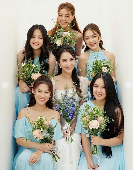 Primmy Trương nhá hàng ảnh cưới, dàn phù dâu toàn Hoa hậu, diễn viên-2