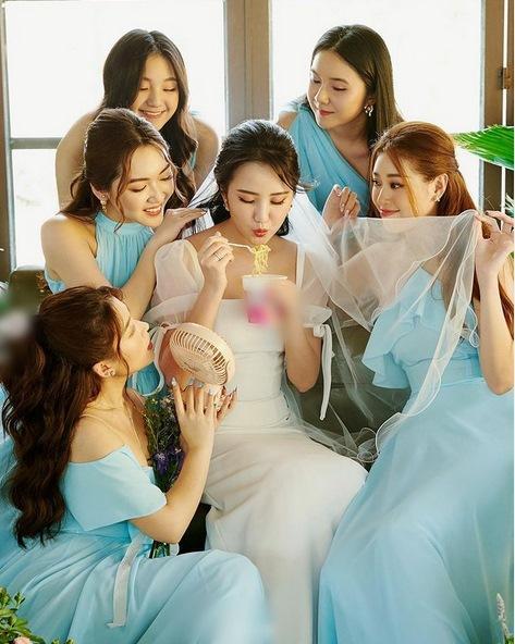 Primmy Trương nhá hàng ảnh cưới, dàn phù dâu toàn Hoa hậu, diễn viên-4