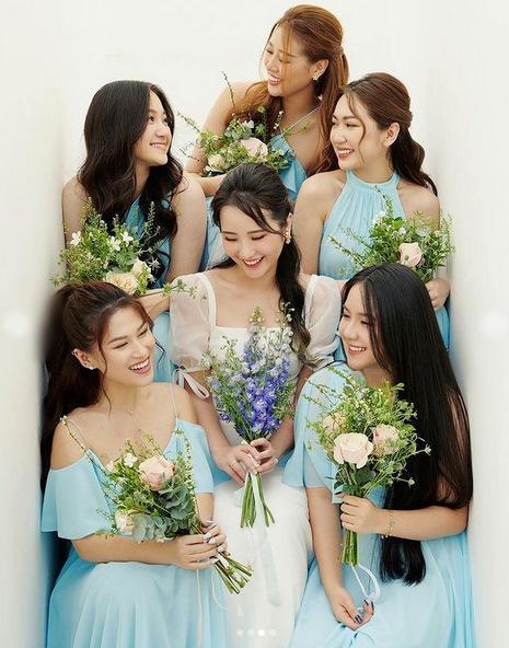 Primmy Trương nhá hàng ảnh cưới, dàn phù dâu toàn Hoa hậu, diễn viên-3