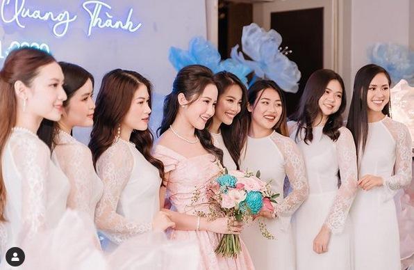 Primmy Trương nhá hàng ảnh cưới, dàn phù dâu toàn Hoa hậu, diễn viên-5