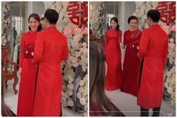 Phan Thành - Primmy Trương cả mẹ cô dâu cùng diện áo dài đỏ nổi bật