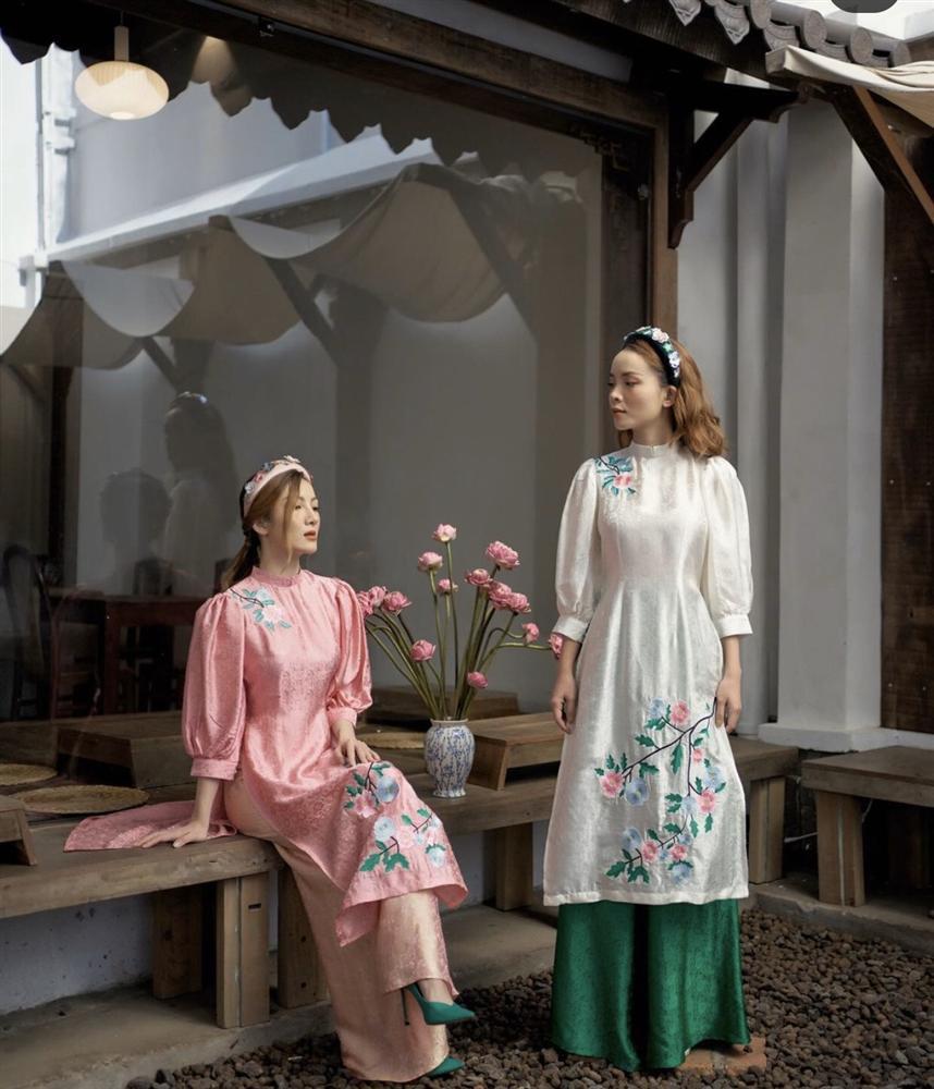 Học lỏm chị chị em em Vbiz chiêu diện áo dài ton-sur-ton-5