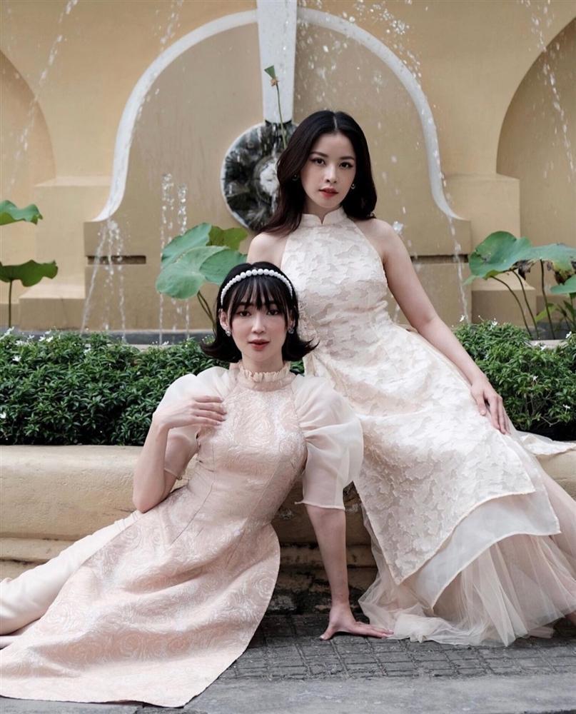 Học lỏm chị chị em em Vbiz chiêu diện áo dài ton-sur-ton-7