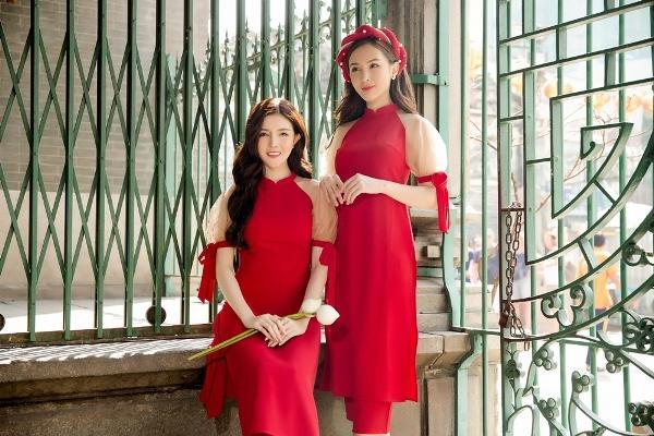 Học lỏm chị chị em em Vbiz chiêu diện áo dài ton-sur-ton-14