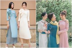 Học lỏm 'chị chị em em' Vbiz chiêu diện áo dài ton-sur-ton