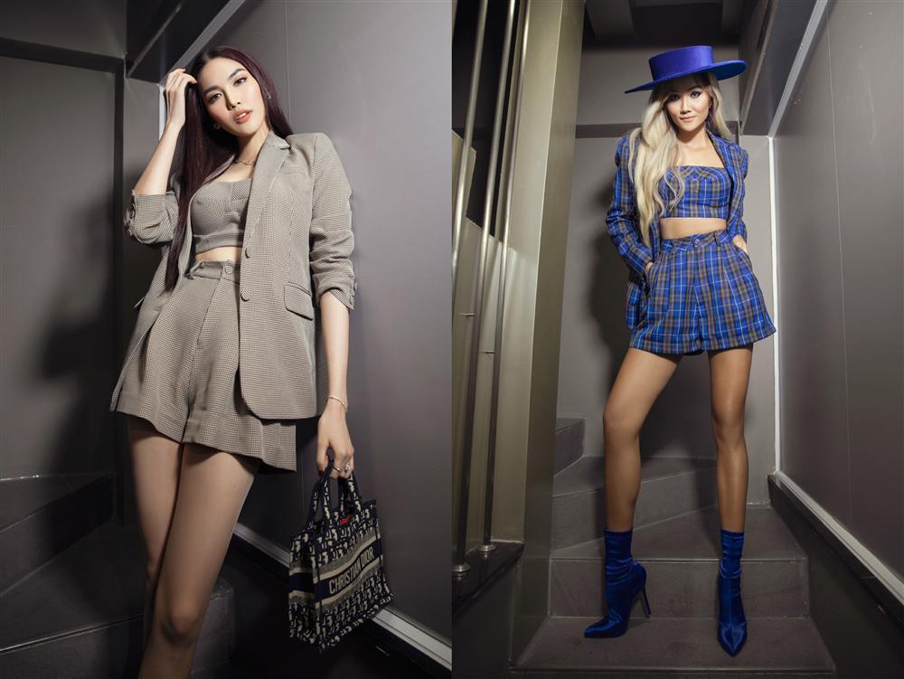 Diva Hồng Nhung lăng-xê mốt lộ nội y - HHen Niê cá tính với set đồ caro trendy-5