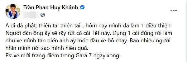 Huy Khánh bị va chạm giao thông: Cả Tết này anh sẽ day dứt-2