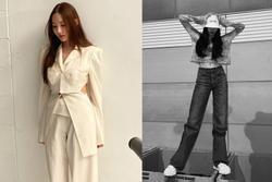 Style sao Hàn tuần qua: Park Min Young, BLACKPINK Lisa hack dáng đỉnh cao với quần suông