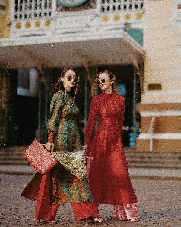 Muôn kiểu phụ kiện mix cùng áo dài Tết được sao Việt lăng xê nhiệt tình-3