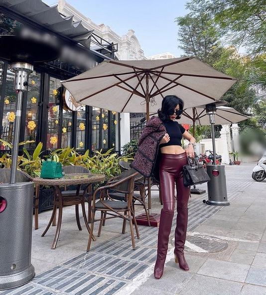 Lệ Quyên lộ bé mỡ vì quần da - Đàm Thu Trang lấy lại eo thon nhỏ tí-7
