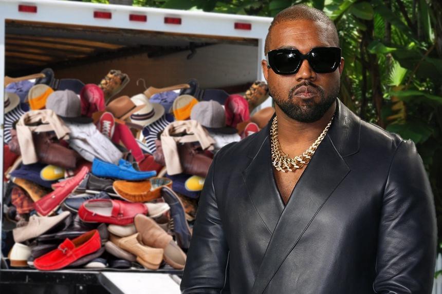 Kanye West mang theo 500 đôi giày rời khỏi nhà Kim Kardashian-1