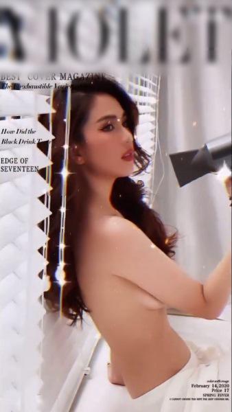 Ngọc Trinh bán nude tạo dáng với máy sấy tóc cực nóng bỏng-1