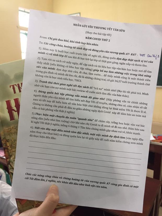 Cô giáo giao liền 6 bài tập Tết nhưng vẫn khiến học trò rần rần xin thêm-1