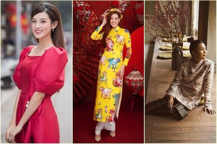 1001 sắc thái áo dài mỹ nhân Việt cận Tết, từ cách tân đến truyền thống đều có đủ