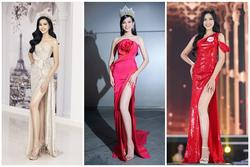 Hoa hậu Đỗ Thị Hà chuộng váy xẻ đùi và chỉ pose một dáng