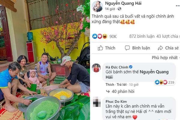 KOLs chuẩn bị Tết: Hoàng Linh dọn nhà vệ sinh, Quang Hải chỉnh ảnh sống ảo-4