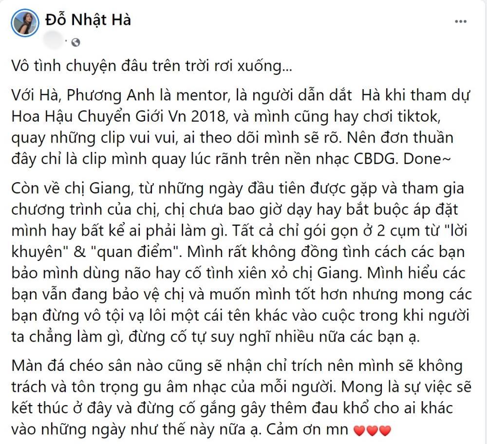 Đỗ Nhật Hà phủ nhận xiên xỏ Hương Giang khi cover ca khúc nhảm của Phí Phương Anh-3