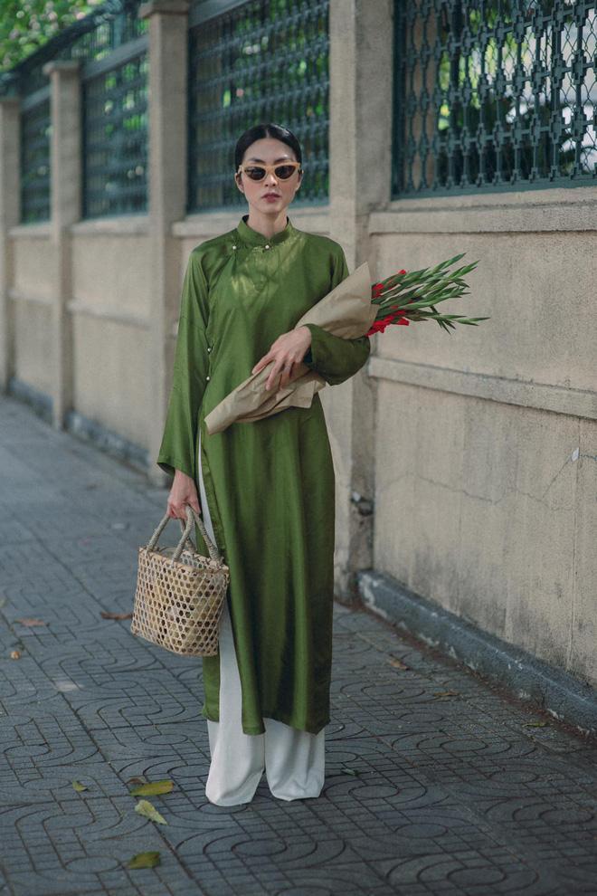 Mỗi năm diện áo dài Tết, Tăng Thanh Hà đều gây sốt mạng xã hội-3