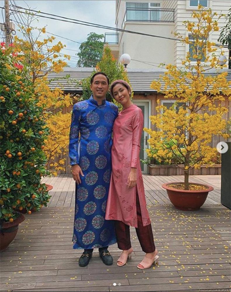 Mỗi năm diện áo dài Tết, Tăng Thanh Hà đều gây sốt mạng xã hội-6