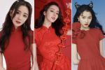 Dương Mịch - Địch Lệ Nhiệt Ba ngập trong sắc đỏ ngày đầu năm 2021