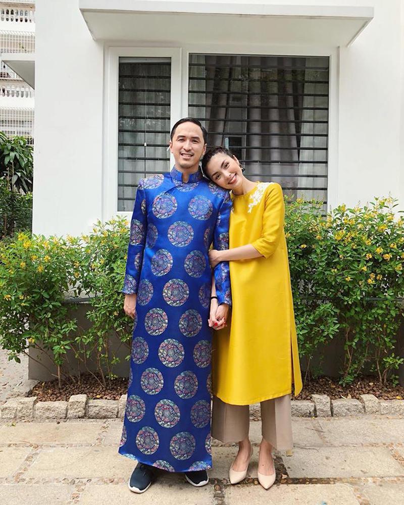 Không còn trung thành áo dài xanh, ông xã Hà Tăng đổi gió với sắc vàng rực rỡ-3