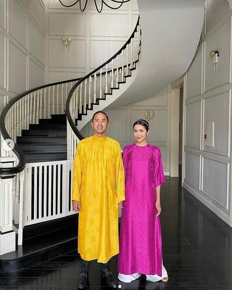 Không còn trung thành áo dài xanh, ông xã Hà Tăng đổi gió với sắc vàng rực rỡ-1