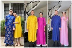 Không còn trung thành áo dài xanh, ông xã Hà Tăng 'đổi gió' với sắc vàng rực rỡ