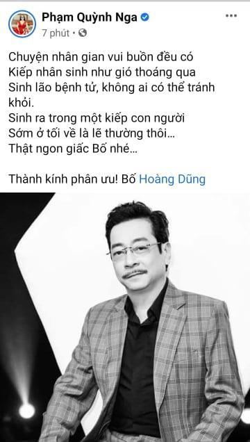 Dàn sao Việt bàng hoàng khi hay tin NSND Hoàng Dũng qua đời-8