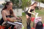Diện áo cúp ngực, quần đùi đi lễ chùa, cô gái trẻ bị ném đá dữ dội-11