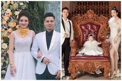 Cô dâu 200 cây vàng ở Nam Định khoe con gái xinh tròn 1 tuổi