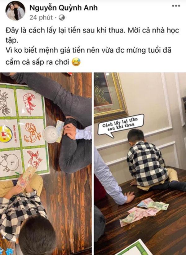 Bà xã Đỗ Duy Mạnh gây tranh cãi khi khoe ảnh chơi bầu cua tôm cá-1