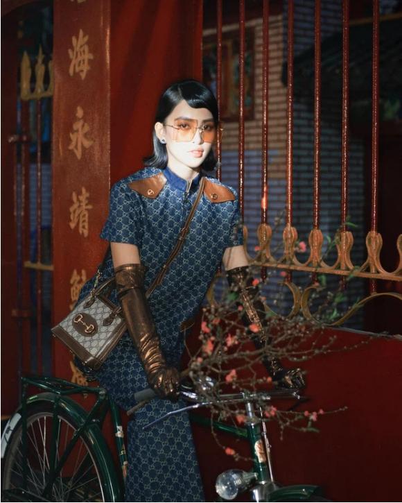 Đụng nguyên cây Gucci với Khánh Linh đã đành, Tiểu Vy còn xào lại luôn concept bộ ảnh?-1