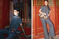 Đụng nguyên cây Gucci với Khánh Linh đã đành, Tiểu Vy còn 'xào' lại luôn concept bộ ảnh?
