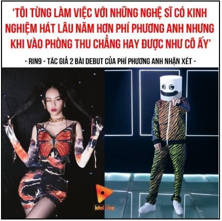 Netizen phẫn nộ RIN9 khen Phí Phương Anh hát trong phòng thu hay hơn nhiều ca sĩ lâu năm-3