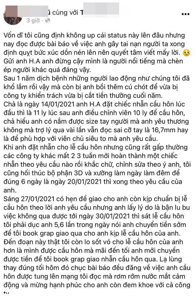 Huỳnh Anh lên tiếng về ồn ào lật kèo mua nhẫn cầu hôn-1