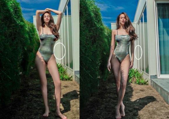 Bị soi chỉnh ảnh méo tường, Hà Hồ tung tiếp khoảnh khắc diện bikini bốc lửa-2