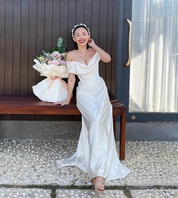 Tóc Tiên kì công gửi sang Mỹ giặt hấp váy cưới 140 triệu để mặc lại trong ngày kỉ niệm-1