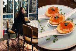 Trứng vịt hun khói đẹp mắt khiến Linh Rin thích mê