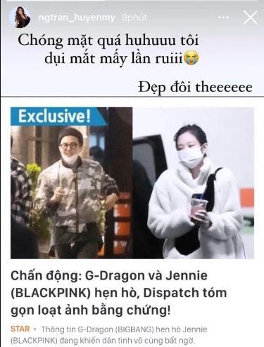 Sao Vbiz rần rần vì tin G-Dragon và Jennie hẹn hò: Huyền My - Tóc Tiên xỉu ngang xỉu dọc-1