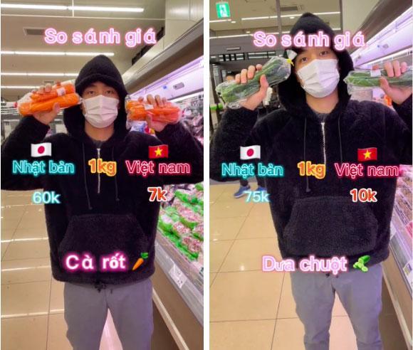 Chàng trai làm clip so sánh giá thực phẩm bán ở Nhật và Việt Nam, dân mạng tranh cãi nảy lửa-1