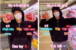 Chàng trai làm clip so sánh giá thực phẩm bán ở Nhật và Việt Nam, dân mạng tranh cãi nảy lửa