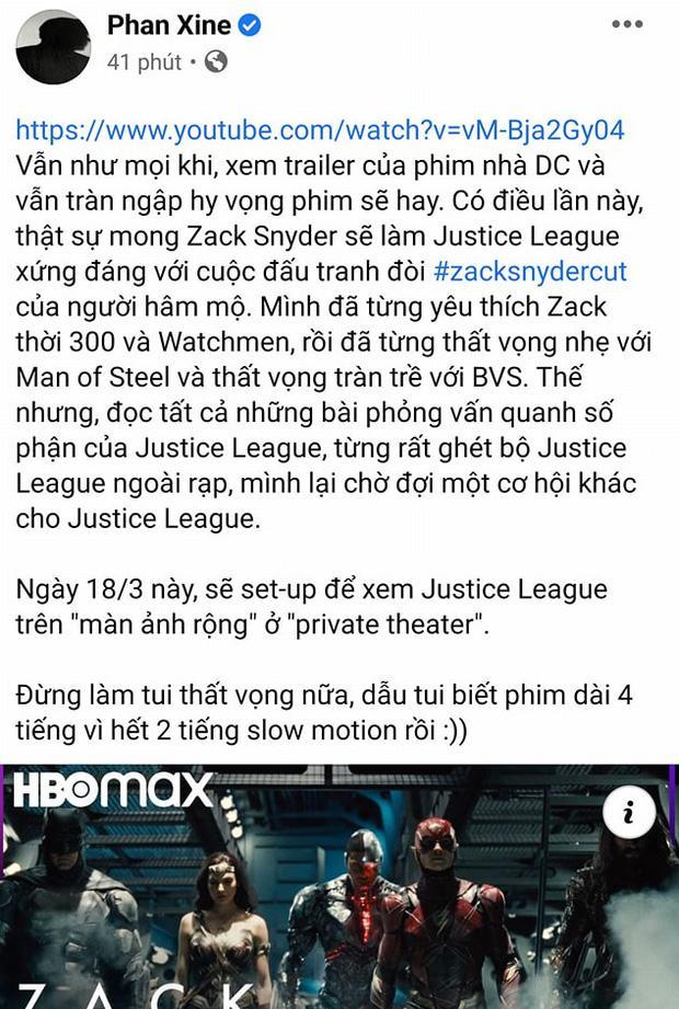 Đạo diễn Trạng Tí lại vạ miệng cà khịa bom tấn Justice League khiến netizen Việt đòi tẩy chay-1