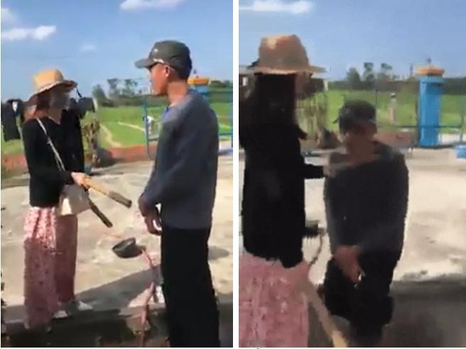 Clip: Bị sờ mó vòng 1, người phụ nữ đánh gã biến thái phải quỳ xuống xin lỗi-2