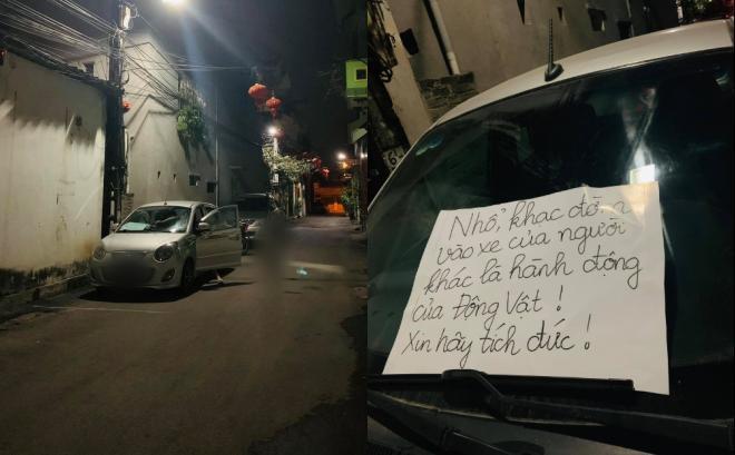 Đỗ xe qua đêm bị người lạ làm bẩn, chủ xe liền chửi xéo với nội dung sốc-3